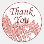Thank You Envelope Seal Dogwood Design Classic Round Sticker