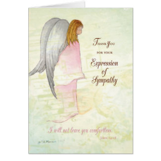 Thank You Expression of Sympathy, Angel Card