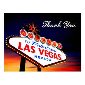 Thank You - Fabulous Las Vegas Nevada Sign Postcard