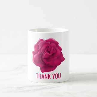 Thank you floral custom text mugs