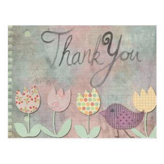 Thank You Floral Postcard