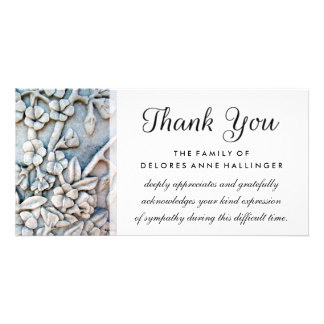Thank You Floral Simplicity Sympathy Card Photo Greeting Card