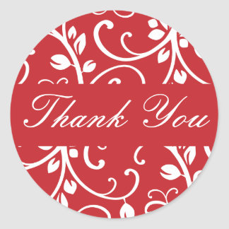 Thank You Floral Vine Envelope Sticker Seal