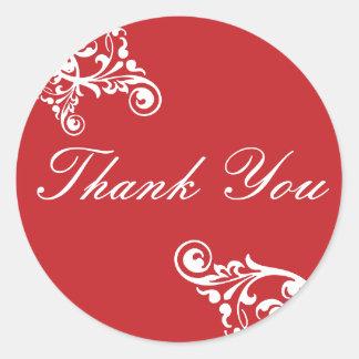 Thank You Flourish Envelope Sticker Seal