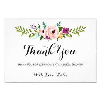 Thank You - Flower Crown Card