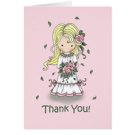 Thank You Flower Girl Card