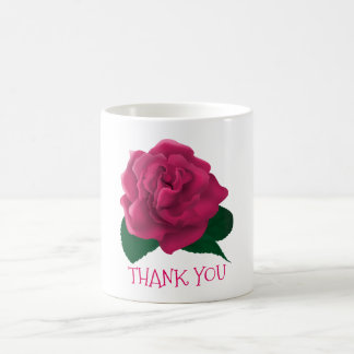 Thank you flower pink custom text mugs