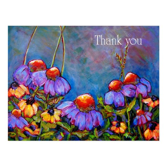 Thank You Flower Postcard