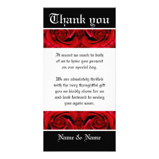 Thank you flower rose red ~ customize it photo greeting card