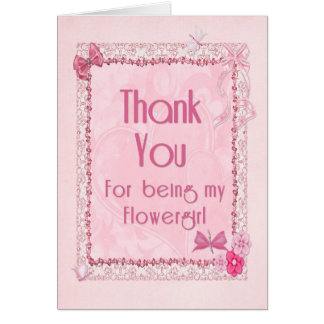Thank you flowergirl greeting card