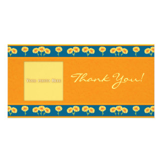 Thank You Flowers 1 Photo Card Template