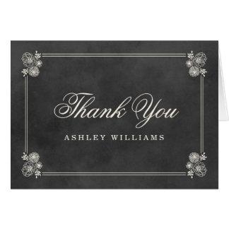 Thank You Folded Cards | Vintage Chalkboard