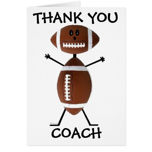 free printable thank you football coach cards | just b.CAUSE