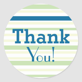 Thank You! for all Occasions - Green Blue Stripes Stickers