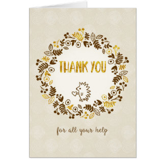 Thank You for All Your Help - Pretty Little Nature Greeting Card
