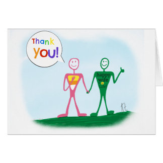 Thank you for attending our wedding greeting card