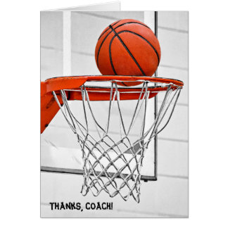 thank you for basketball coach greeting card