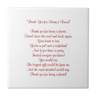 Thank You for Being a Friend - Tile / Trivet