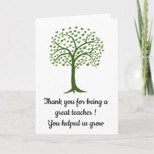 PERSONALISED TEACHER MUG COASTER GIFT HELPED ME GROW FINGERPRINT TREE PRESENT