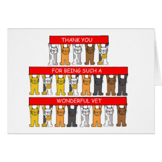 Thank you for being a wonderful veterinarian. greeting card