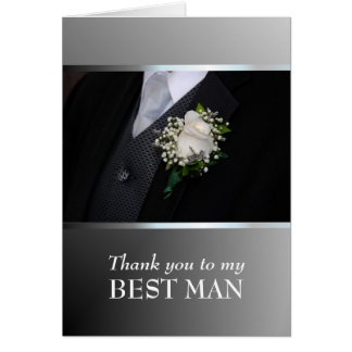 Thank you for being My Best Man - Customize Greeting Card