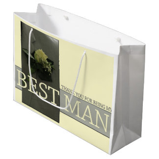Thank you for being my Best Man Large Gift Bag