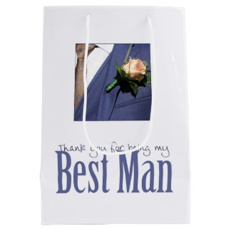 Thank you for being my Best Man Medium Gift Bag