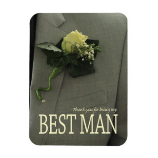Thank you for being my Best Man Rectangular Photo Magnet