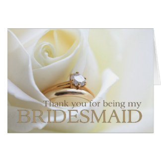 Thank you for being my Bridesmaid Card