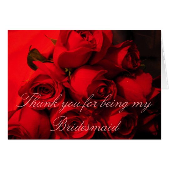 """Thank You for Being My Bridesmaid"" Card"
