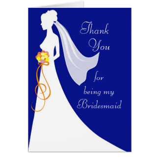 Thank you for being my bridesmaid - custom card