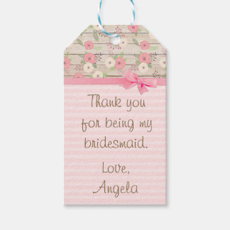 Thank You for being my Bridesmaid Gift Tag