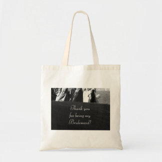 """Thank you for Being My Bridesmaid"" Gift Tote Budget Tote Bag"