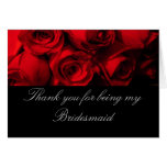 """""""Thank You for Being My Bridesmaid"""" - Red Rose Bou"""