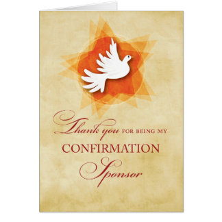 Thank You for being My Confirmation Sponsor, Dove Greeting Card
