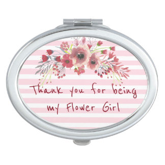 Thank you for being my Flower Girl Compact Compact Mirror