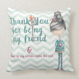 Thank you for being my friend throw pillow