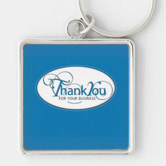 Thank You For Business, Blue Script Key Chains