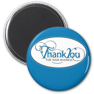 Thank You For Business Blue Script Refrigerator Magnets