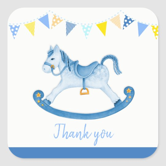 Thank You For Coming Baby Shower Stickers Boy Baby Zazzle