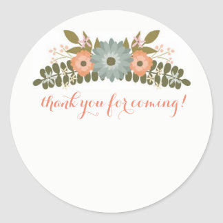 Thank You For Coming Classic Round Sticker