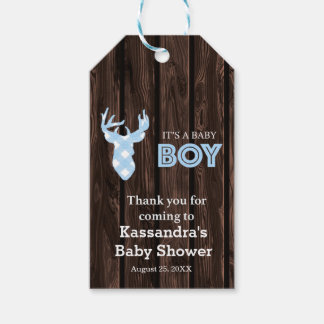 Thank You For Coming Deer Rustic Baby Shower Tag