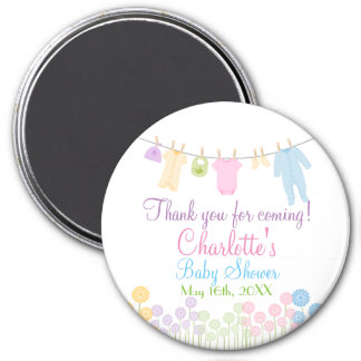 Thank You For Coming! Little Clothes Baby Shower 7.5 Cm Round Magnet