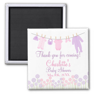 Thank You For Coming! Little Clothes Baby Shower Square Magnet