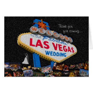 Thank you for coming, Our Las Vegas Wedding Greeting Card