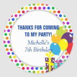 Thank You for Coming - Party Favour Sticker