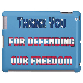 Thank You For Defending Our Freedom iPad Case