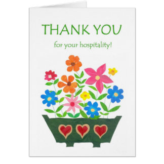 Thank You for Hospitality Card - Flower Power