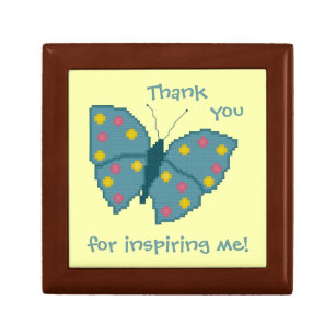 thank you for inspiring me butterfly gift box