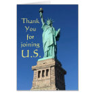 Thank you for joining U.S. New Citizen Greetings C Card
